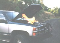 Engine compartment fire.
