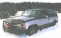 K-Blazer in the snow.